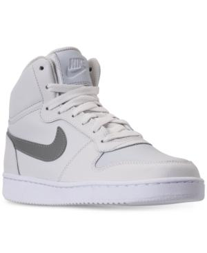 a142004b43a Nike Women s Ebernon Mid Casual Sneakers From Finish Line In Platinum  Tint Metallic Pe