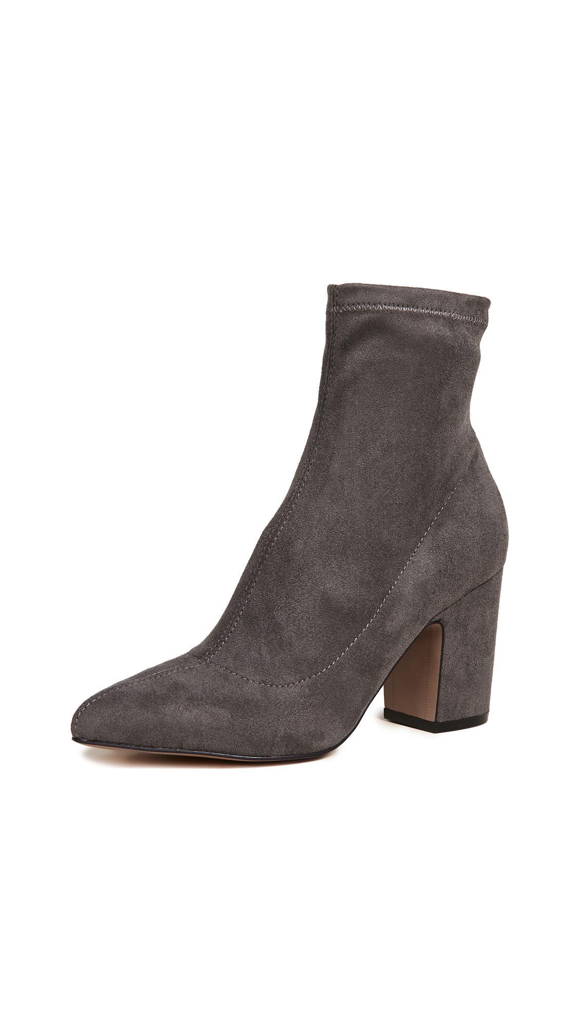 c24998226a4 Leandra Block Heel Ankle Booties in Grey