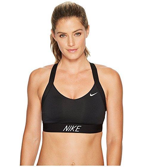 Nike Pro Indy Logo Back Sports Bra Black Black Black White Modesens