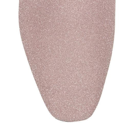 d3280900459 Jimmy Choo Jaida Flat Ballet Pink Fine Glitter Fabric Square Toe Slippers