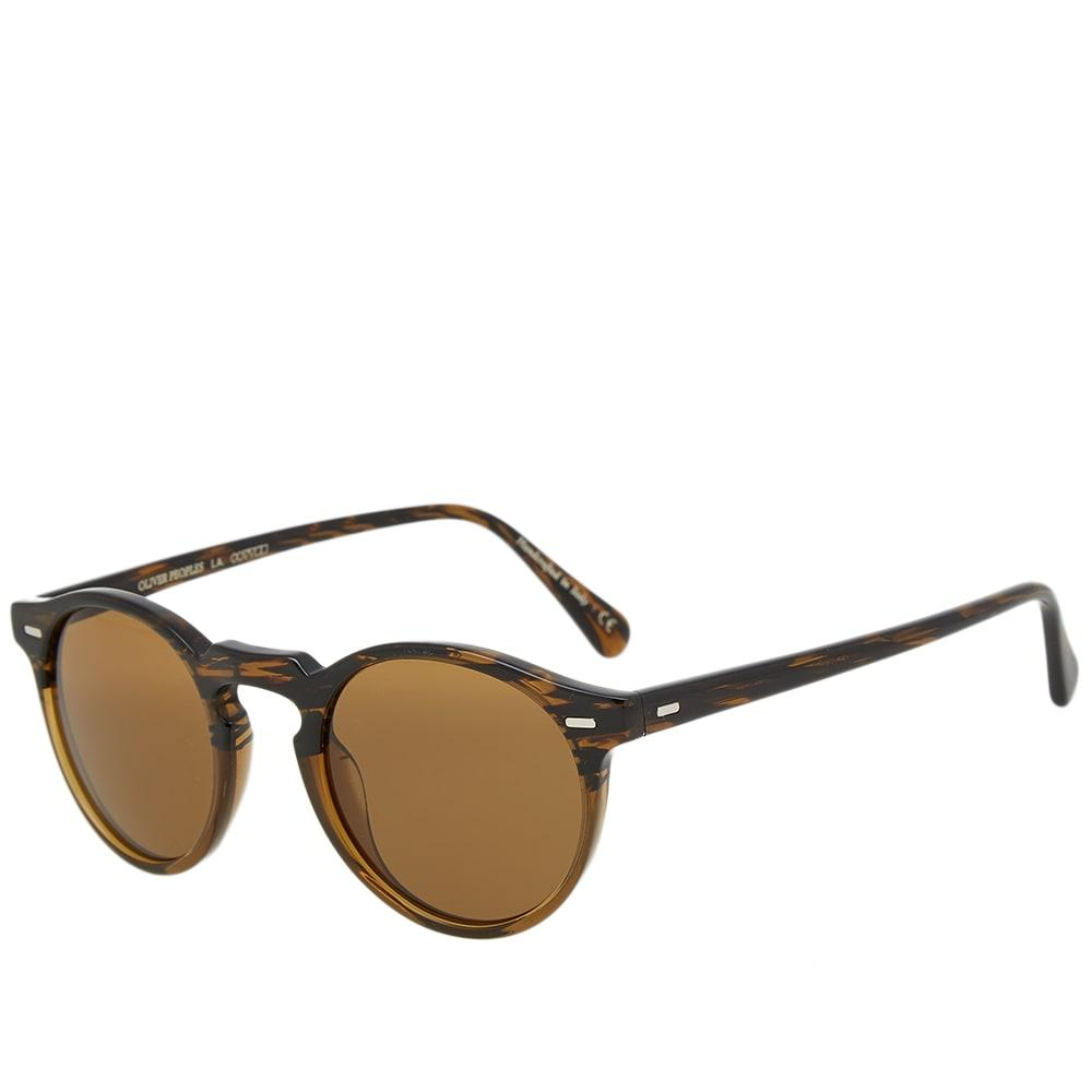 421a20be79 Oliver Peoples Gregory Peck Sunglasses In Brown