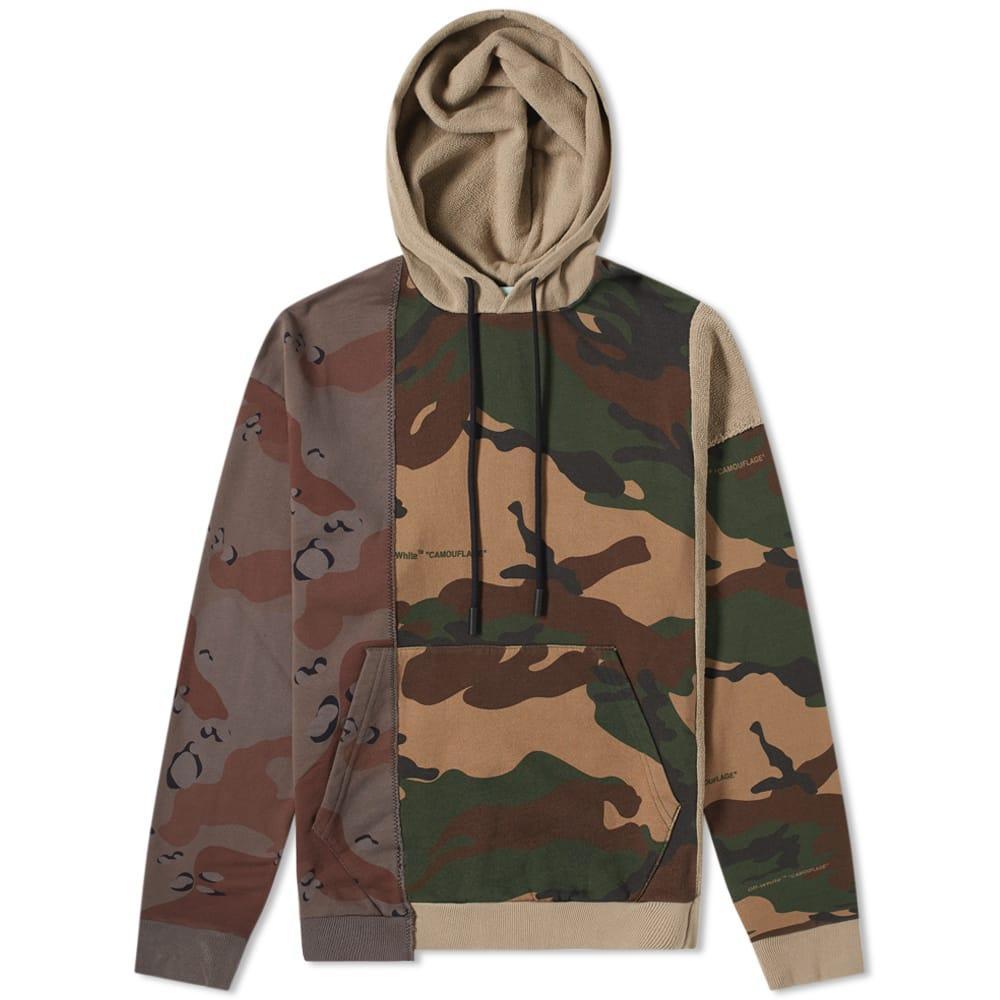 1e08288c6b90 Off-White Men s Reconstructed Camo-Print Hoodie Sweatshirt