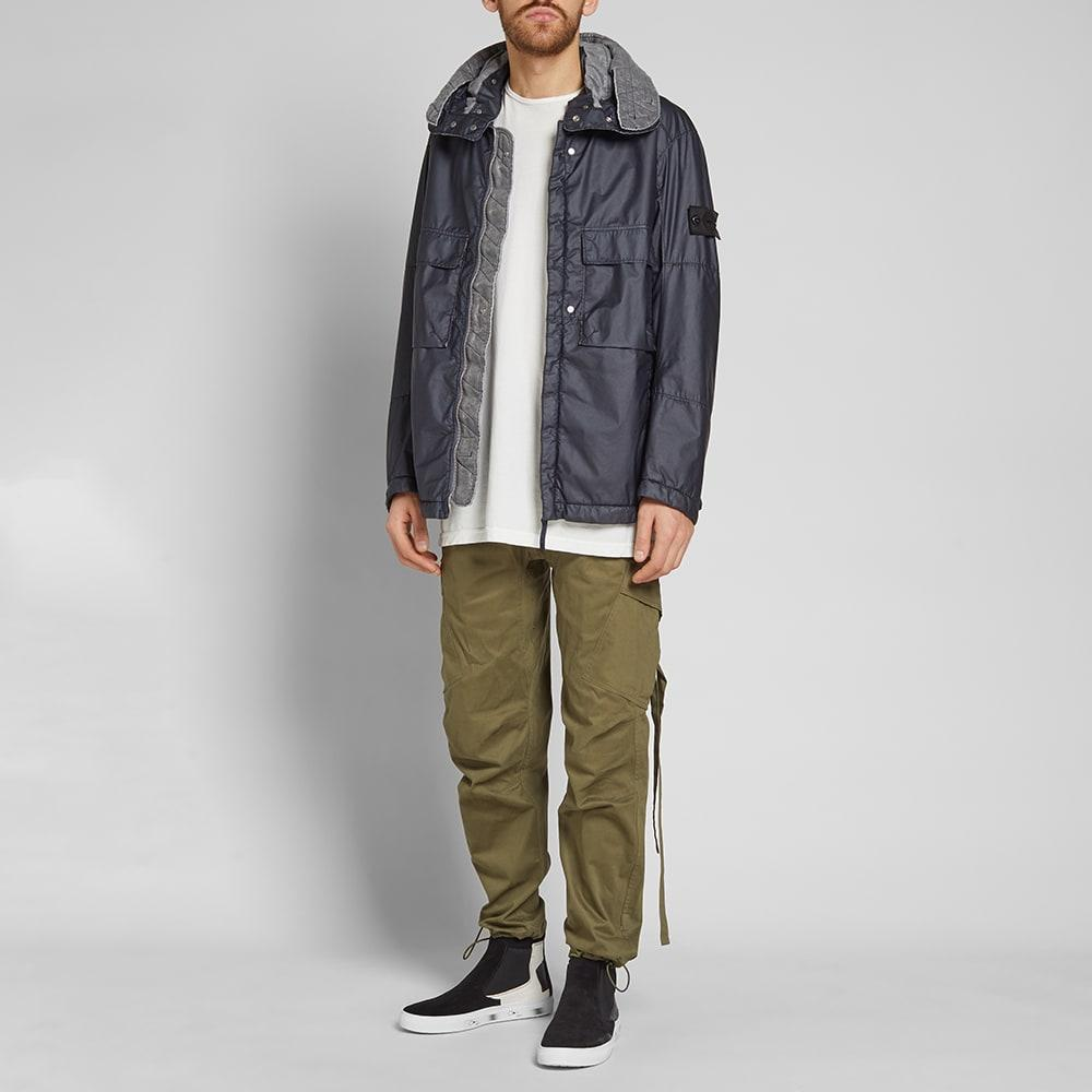 ced45178163 Stone Island Shadow Project Poly Hide Garment Dyed Hooded Parka in Blue