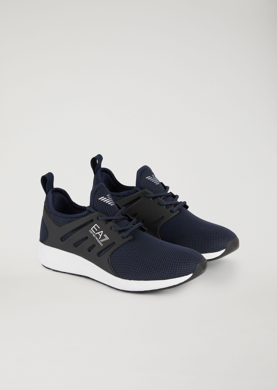 8f7ea4718 Emporio Armani Sneakers - Item 11588901 In Navy Blue | ModeSens