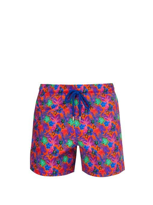 64391e1d89 Vilebrequin - Moorea Puerto Rico Print Swim Shorts - Mens - Orange Multi