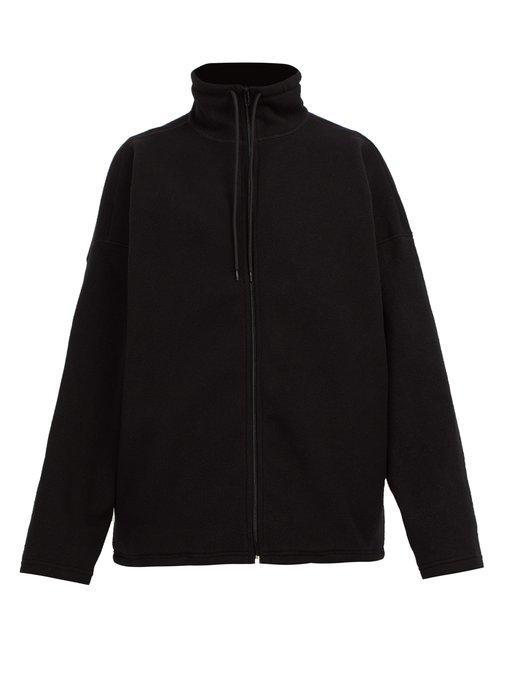 86e9f357 Balenciaga - Lgbtq+ Flag Embroidered Zip Through Track Top - Mens - Black
