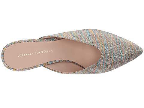 6d6e4eb570 Loeffler Randall Women's Juno Glitter Stripe Kitten Heel Mules In Gold