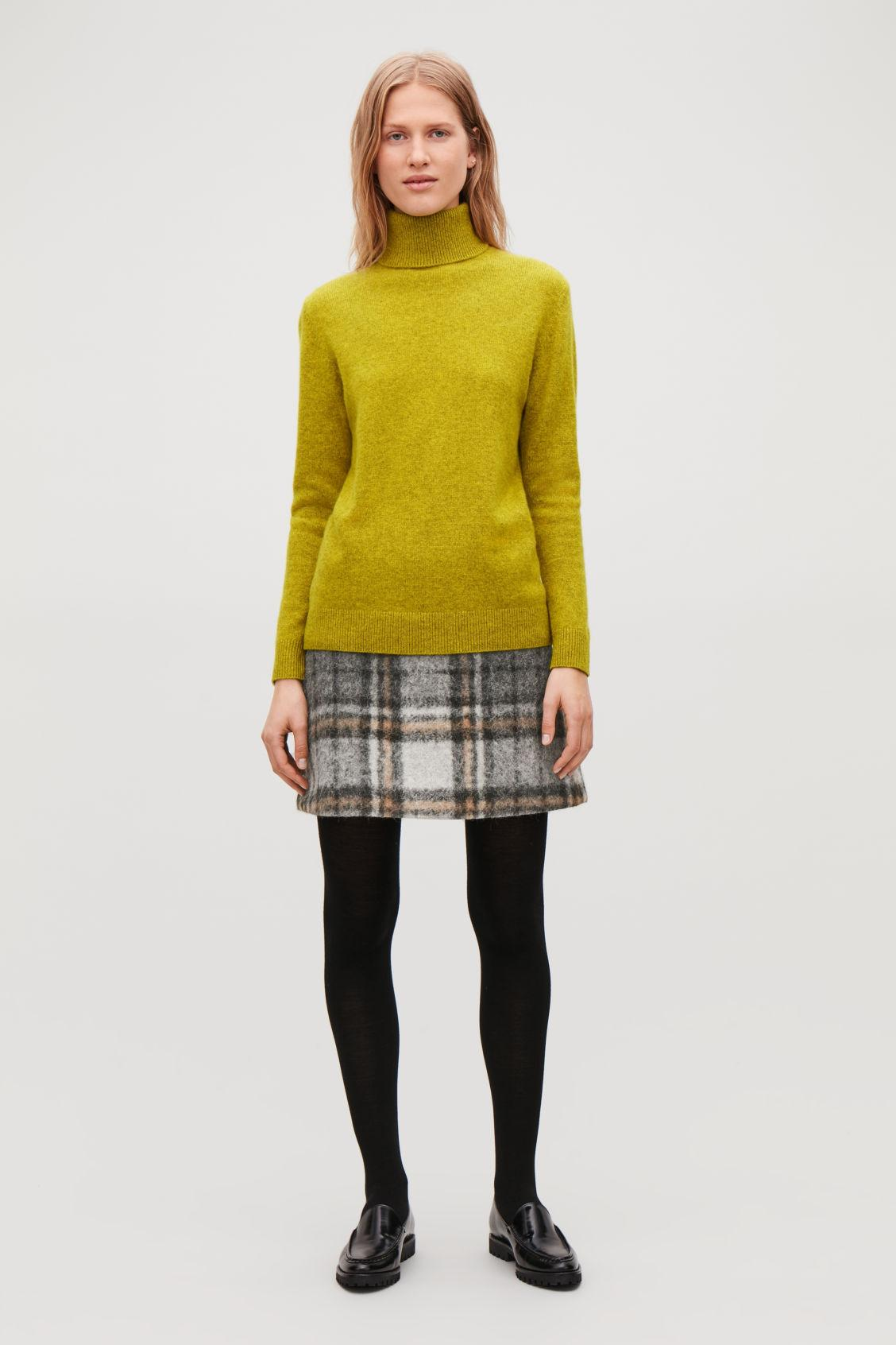 5bf2d3caf2fc Cos High-Neck Cashmere Jumper In Yellow | ModeSens