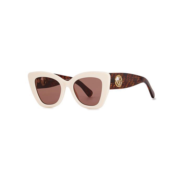 f672e32d31d30 Fendi Cat-Eye Sunglasses In White