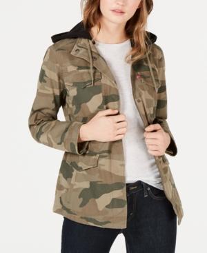 ba7e4e3fb Levi s Hooded Utility Jacket In Moss Camo