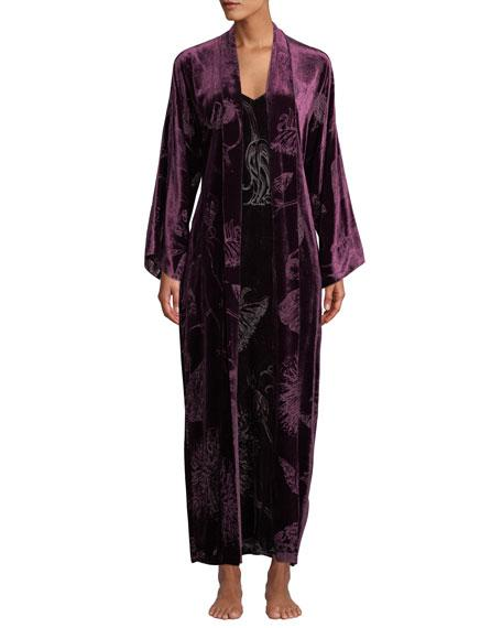 73ce5aeece7ec Christine Lingerie Faberge Velvet Nightgown In Wine | ModeSens