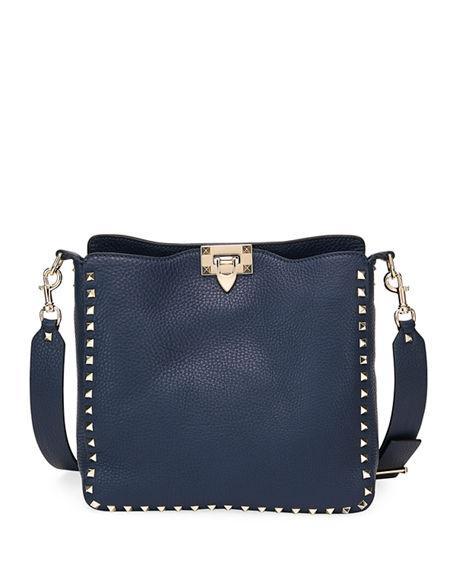 Valentino Rockstud Small Vitello Leather Hobo Bag e7694ecc5cd6e