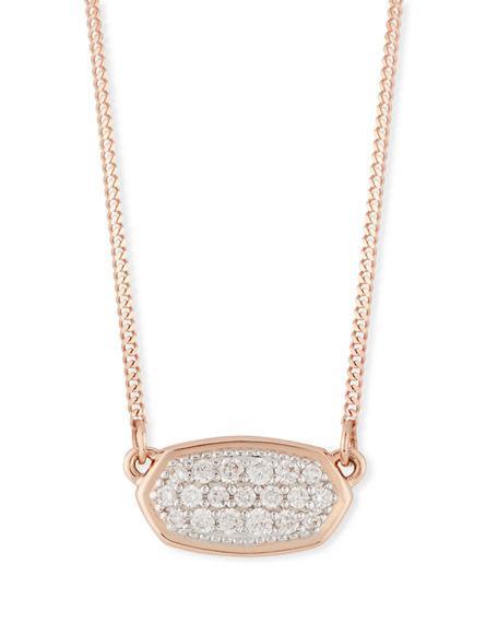d516ed0a91052 Lisa Diamond Necklace In 14K Yellow Gold, 14K Rose Gold Or 14K White Gold,  15 in 14K Rsg White Diamond