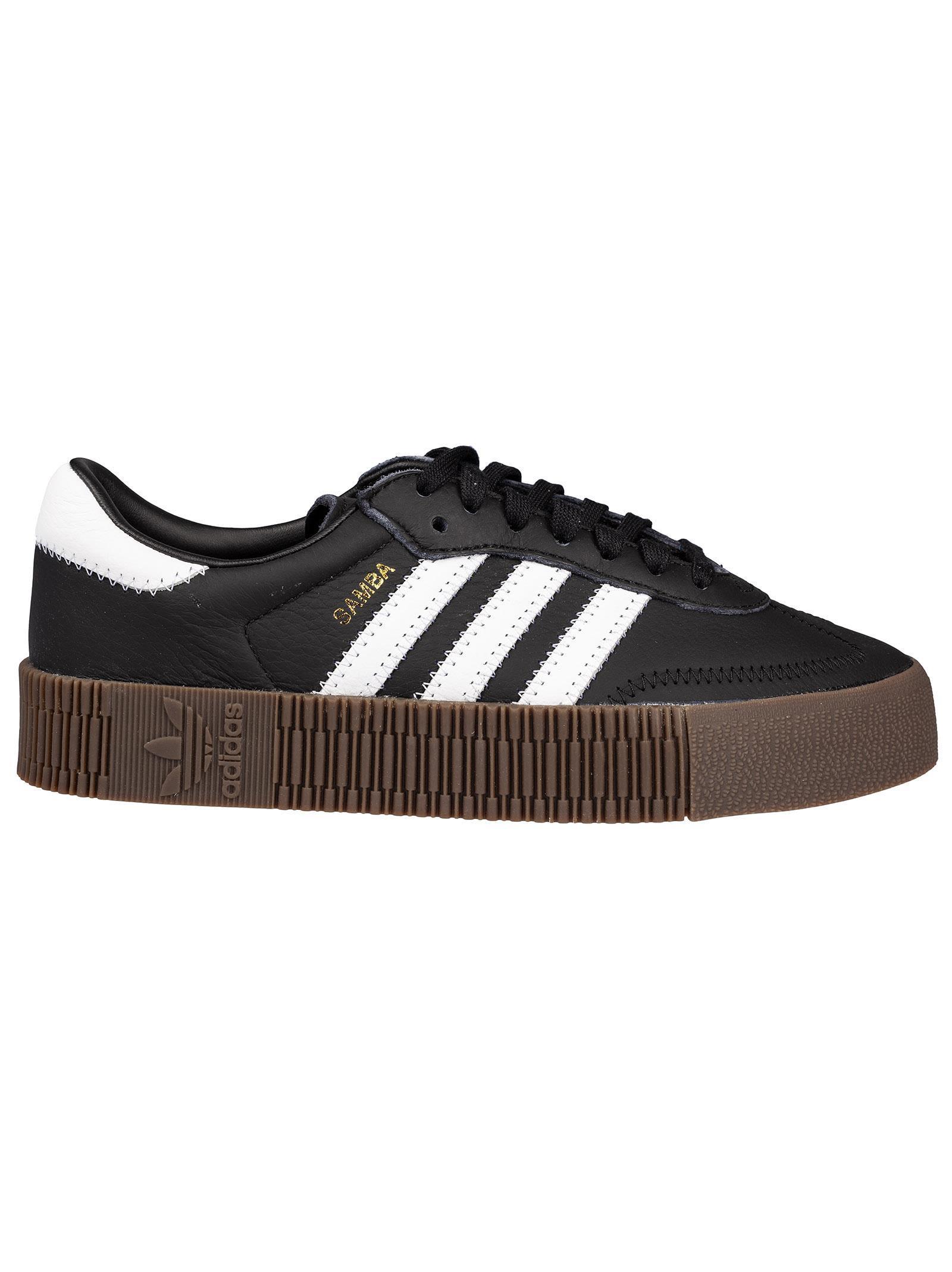 online store cc268 0ebf2 Adidas Originals Samba Rose Sneakers In Black With Dark Gum Sole - Black