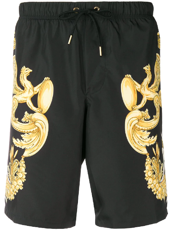 164bc1632a Versace Baroque Printed Nylon Swim Shorts In Black | ModeSens