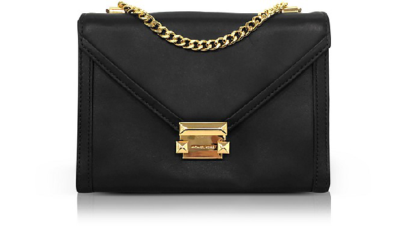 4355a03c2146 Michael Kors Whitney Large Leather Convertible Shoulder Bag In Black ...