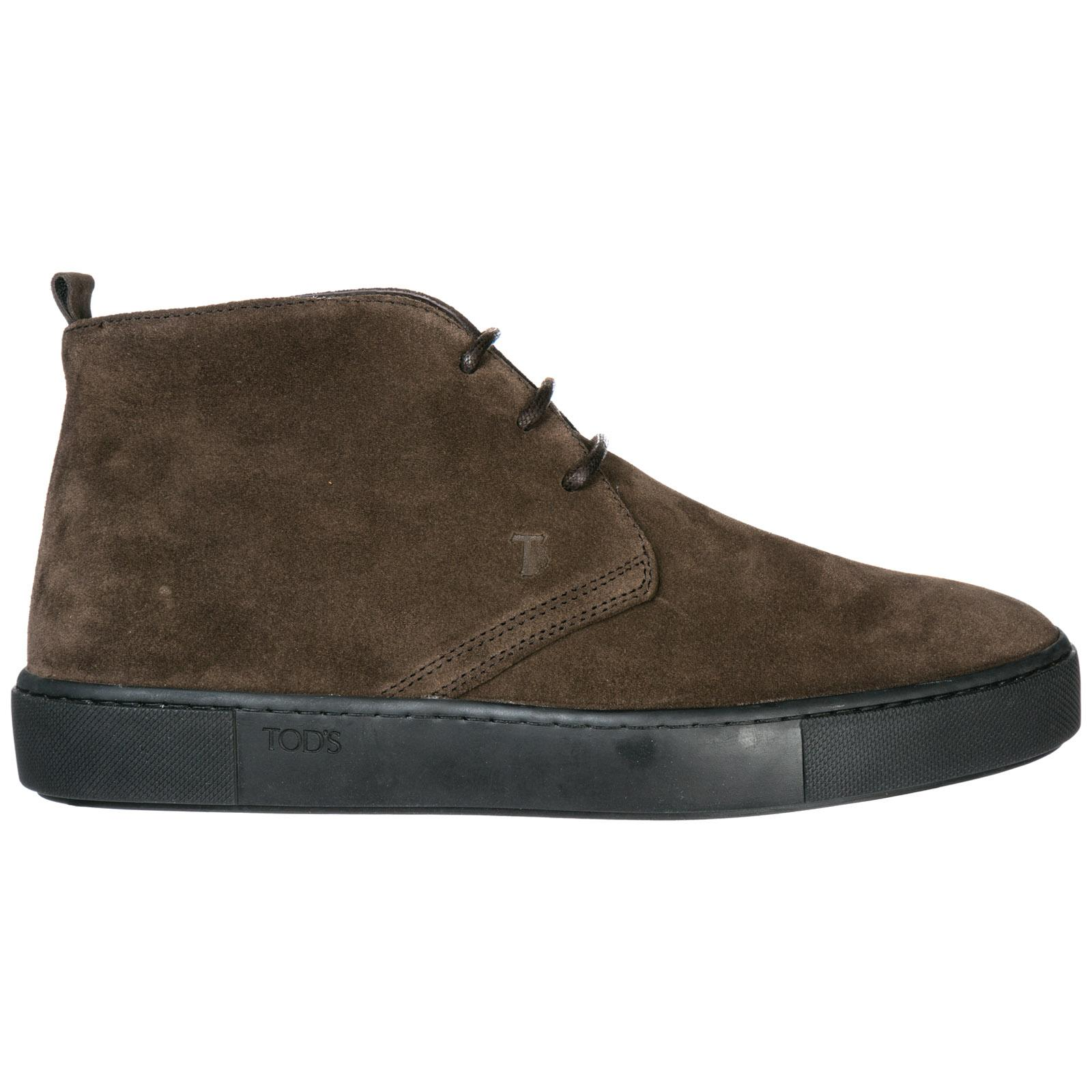 3ac909a33 Tod s Men s Suede Desert Boots Lace Up Ankle Boots In Brown