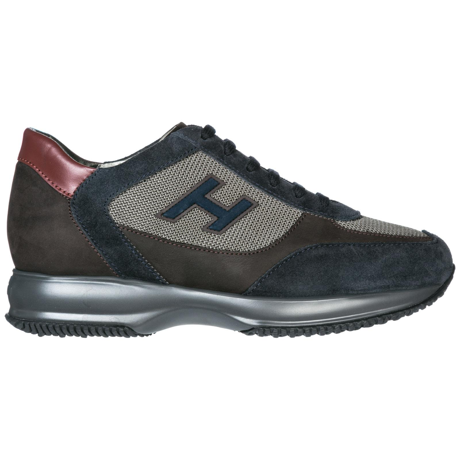 a5fc69fa6ed Hogan Men's Shoes Suede Trainers Sneakers Interactive In Blue | ModeSens