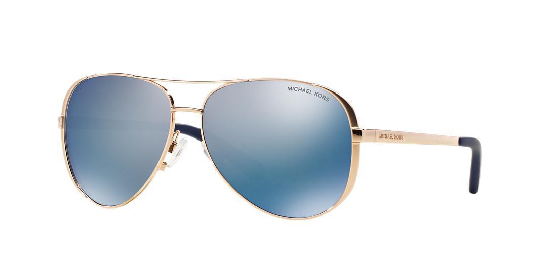 c2800382e5 Michael Kors Blue Mirrored Aviator Sunglasses - Image Of Glasses