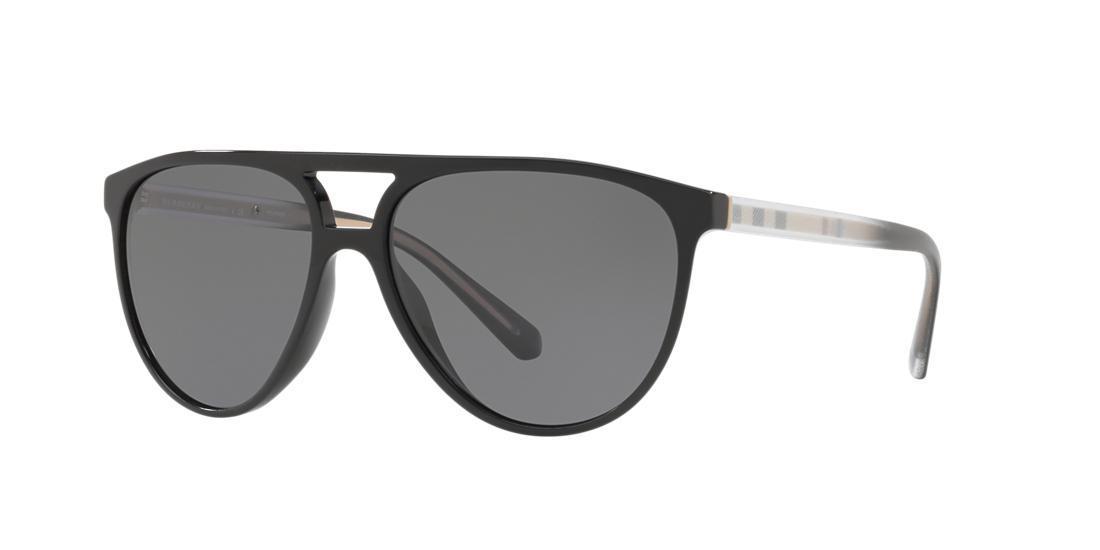 542469da2bcb Burberry 58Mm Polarized Aviator Sunglasses - Black/ Polar In Black/Grey  Polar