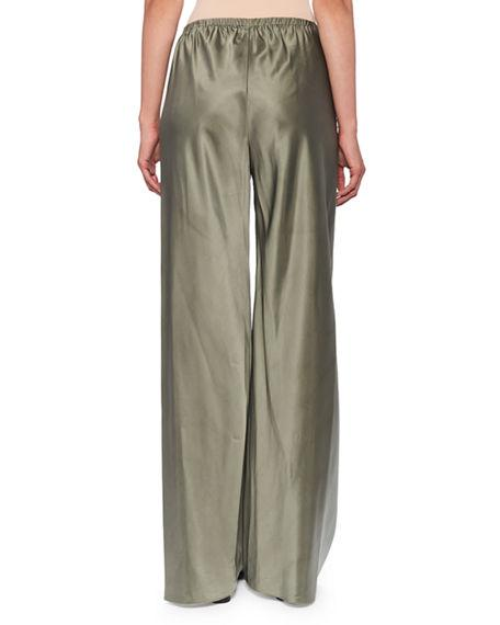 The Row Gala Wide-Leg Pants In Green