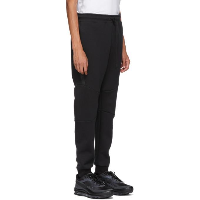 66bf78d2b Nike Black Tech Fleece Lounge Pants In 010 Black | ModeSens