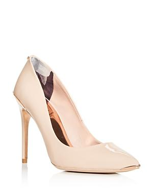 17032d5ba Ted Baker Women s Izibela Pointed-Toe Pumps In Nude Patent Leather ...