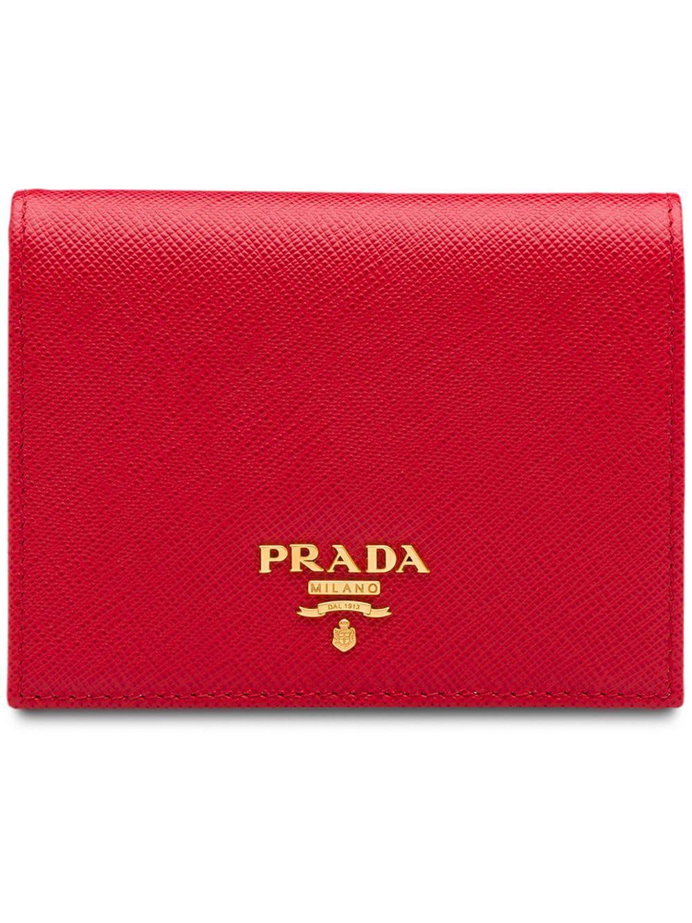 894d27eb7c12e9 Prada Small Saffiano Leather Wallet - Red   ModeSens