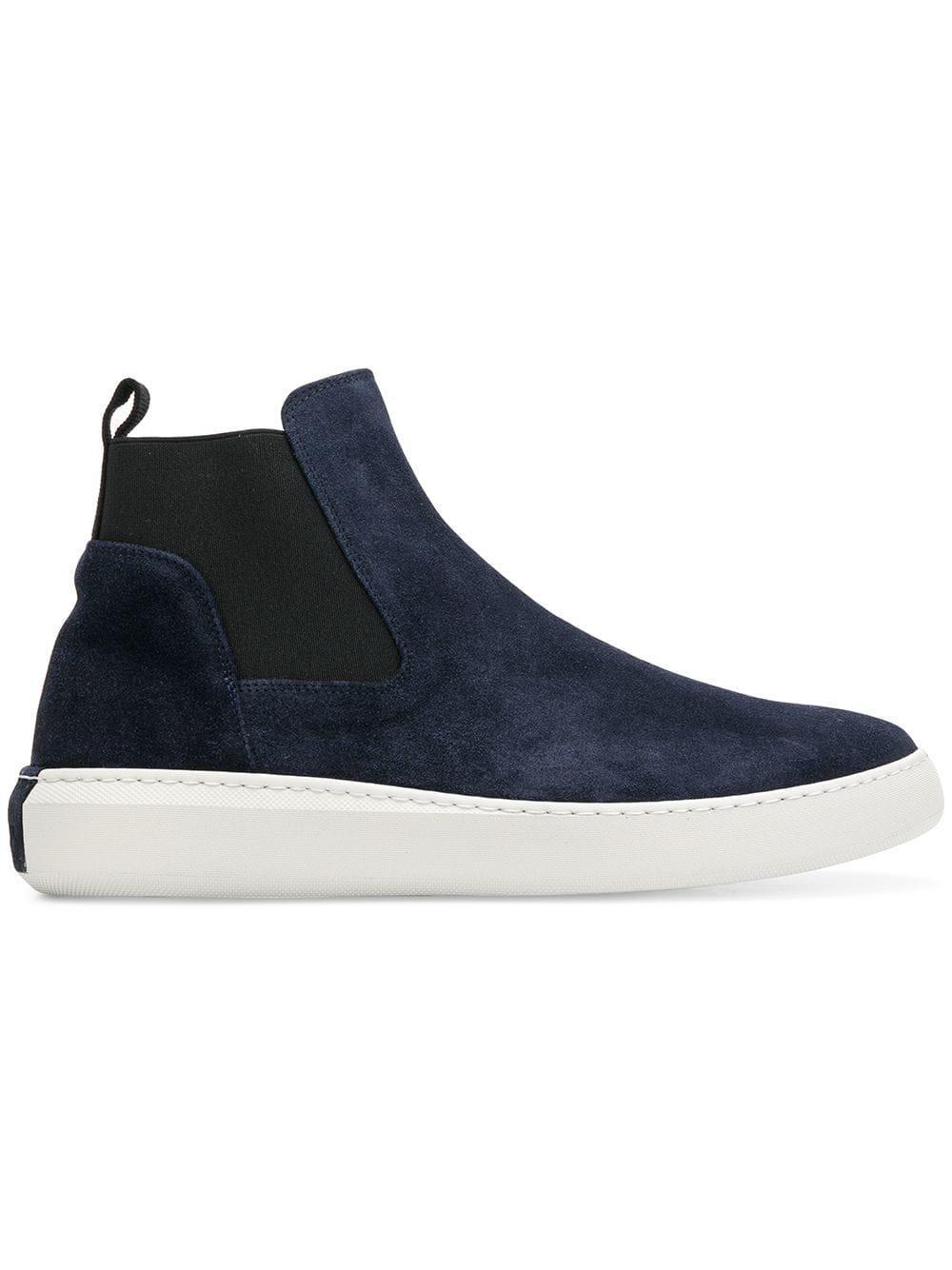 a90c3bac4458fb Moncler Chelsea-Boots Aus Wildleder - Blau In Blue