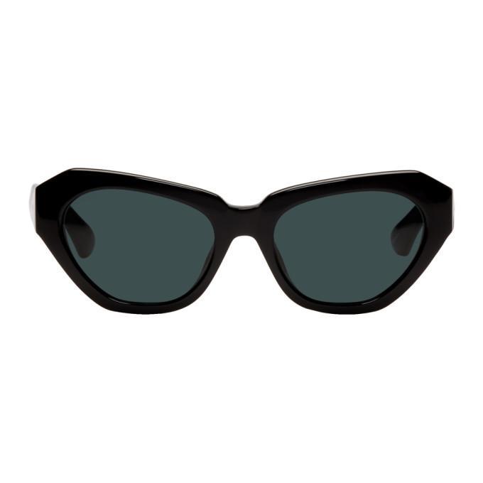 09e83feb21 Dries Van Noten Black Linda Farrow Edition 166 C7 Cat-Eye Sunglasses ...