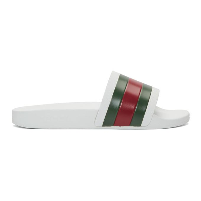 901dbfdc158b Gucci Pursuit  72 Rubber Slide Sandals - White