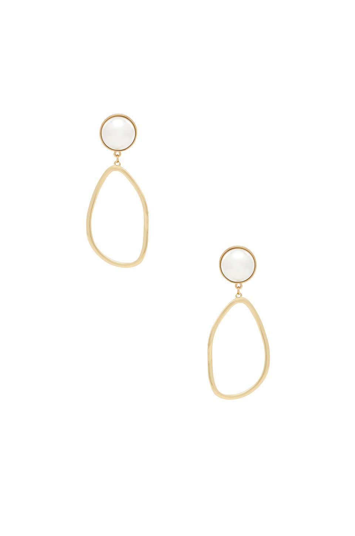 9485126d2 Ettika Pearl Drop Earrings In Metallic Gold. In Pearl & Gold | ModeSens