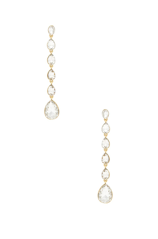 3d0cc9b5f Ettika Crystal Drop Earrings In Metallic Gold. In Clear & Gold ...