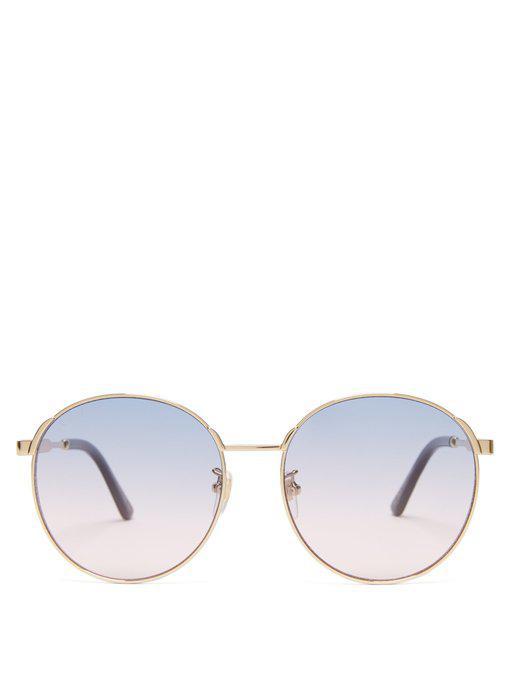 6b5f9bfbf2 Gucci Round-Frame Sunglasses In Purple