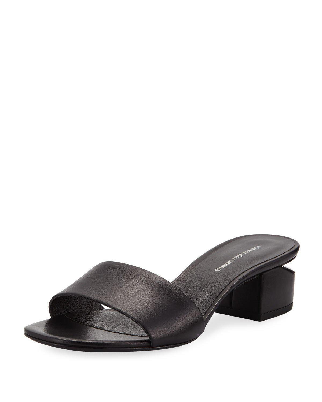 351d4d8d210 Alexander Wang Lou 40Mm Calf Slide Sandals