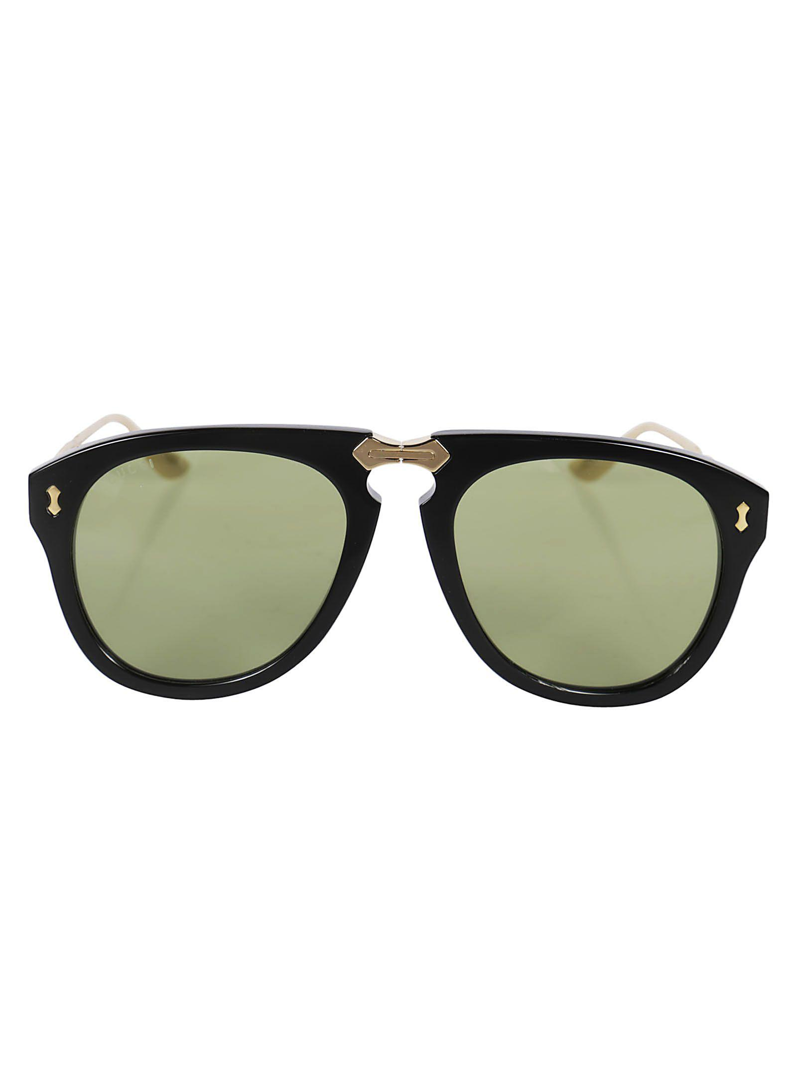 34dcd3f0f4a15 Gucci Tinted Aviator Sunglasses In Black Gold