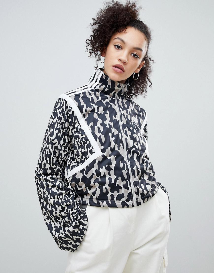 adidas animal print jacket