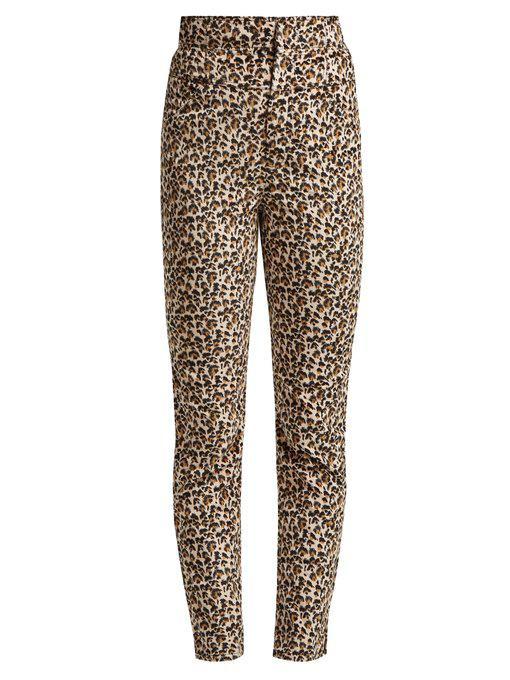 Rebecca Taylor - Leopard Print Slim Leg Trousers - Womens - Animal