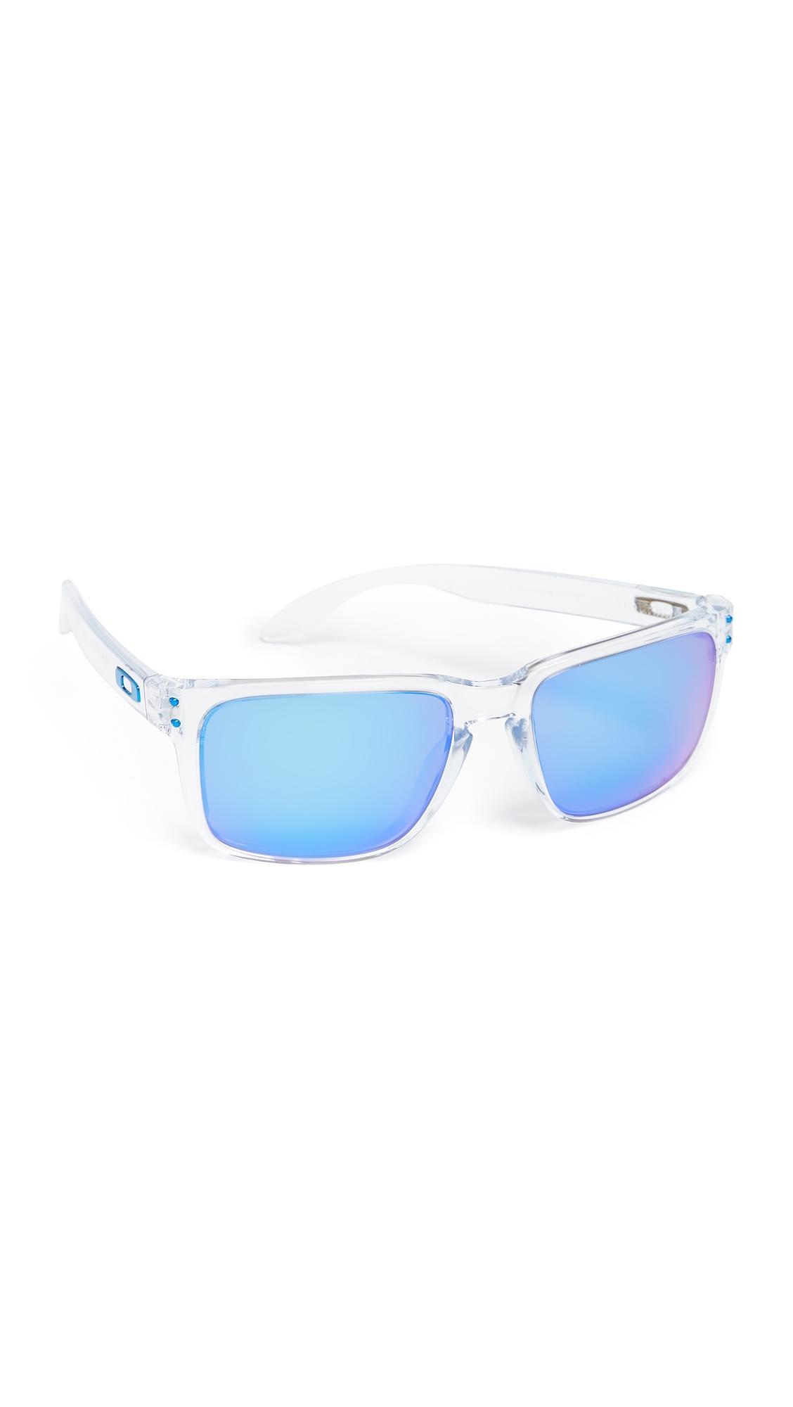 ba734d87bda9 Oakley Holbrook Xl Polarized Sunglasses In Polished Clear/Prism Sapphire