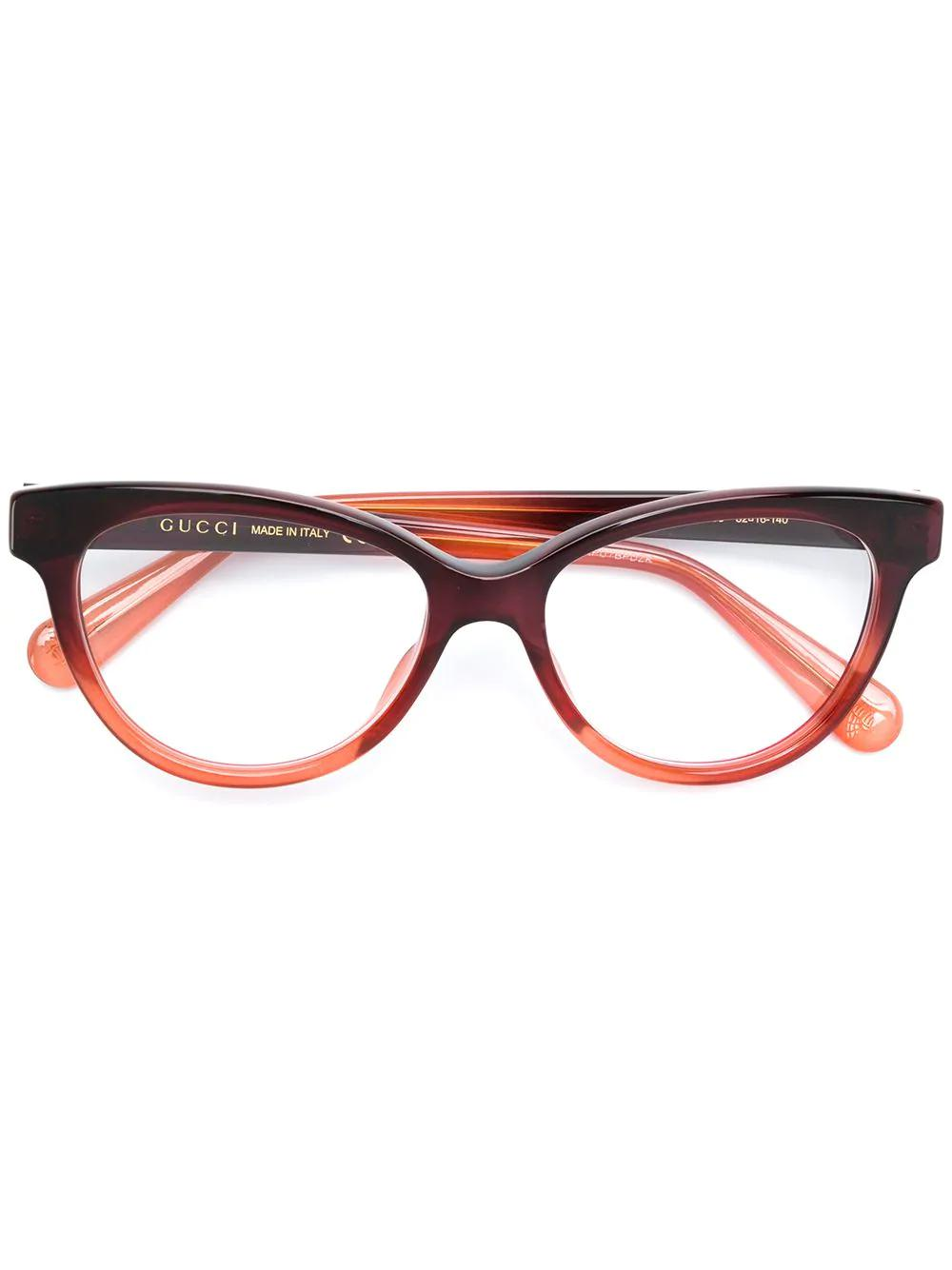caadc6d6e9 Gucci Eyewear Cat-Eye Frame Glasses - Brown. Farfetch