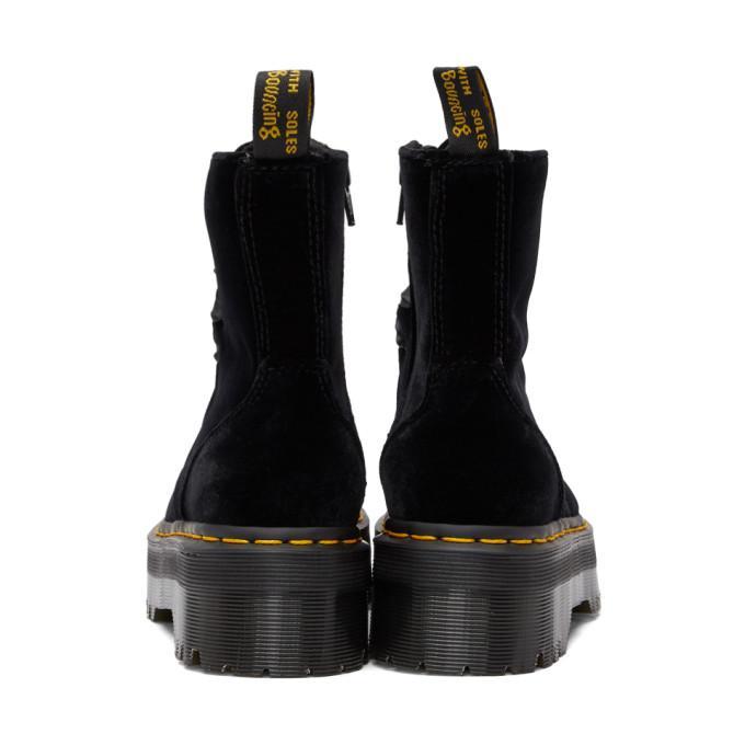 e510e75163e16e Dr. Martens Black Velvet Jadon Platform Boots
