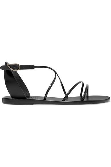 63f13b888 Ancient Greek Sandals Meloivia Leather Sandals In Black
