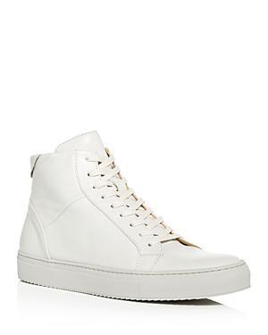3aed595a00f6 Collegium Men's Pillar Leather High-Top Sneakers In Beige | ModeSens