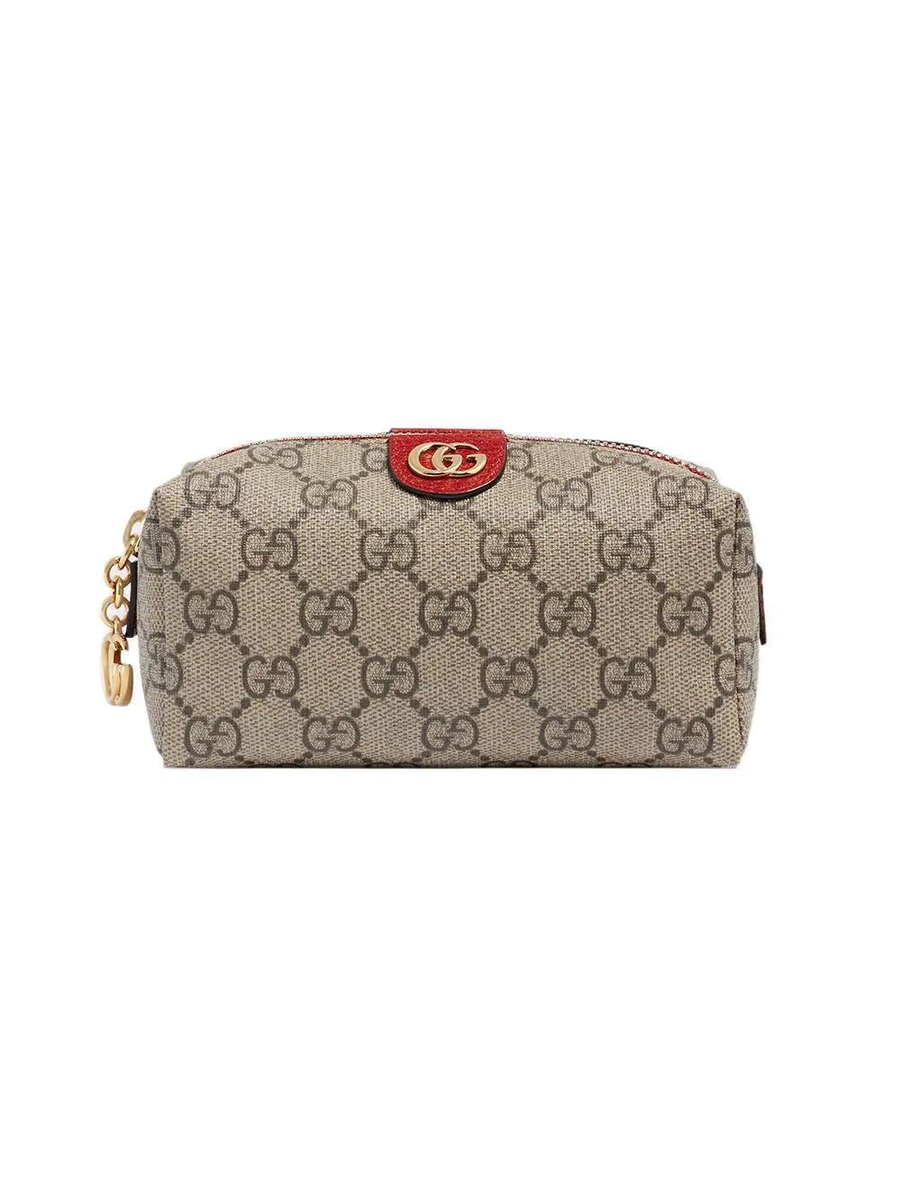 ef0d5c9b383ae0 Gucci Ophidia Gg Supreme Canvas Make-Up Bag In Neutrals   ModeSens