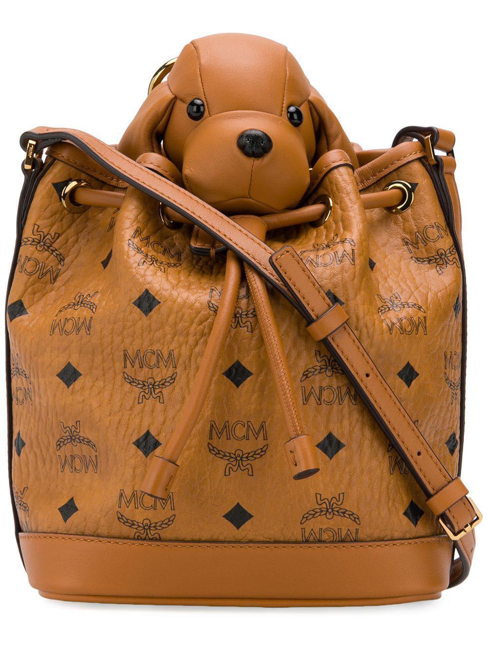 1e9dccf27 Mcm Dog Bucket Bag - Brown | ModeSens