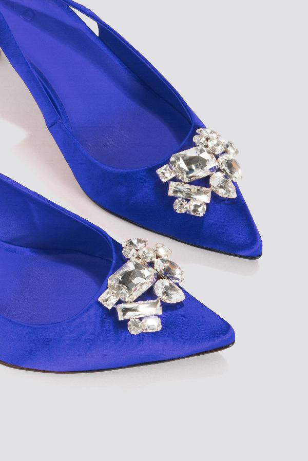 30d02a5260 Na-Kd Light Embellished Kitten Heel Pumps - Blue | ModeSens