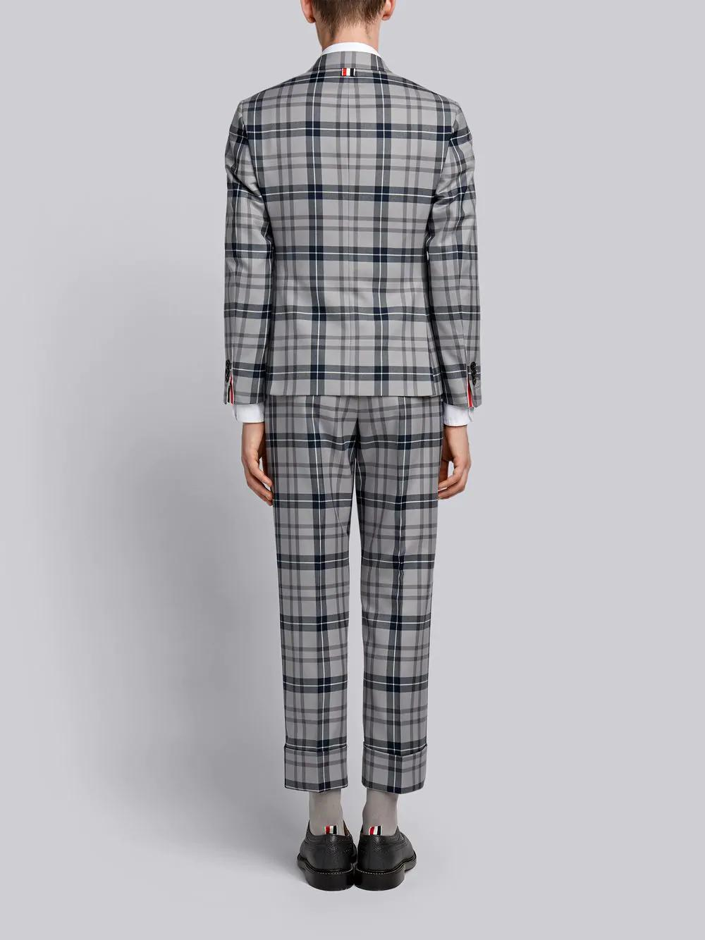THOM BROWNE THOM BROWNE THOM BROWNE TARTAN SUIT WITH TIE,MSC001A0356012559476