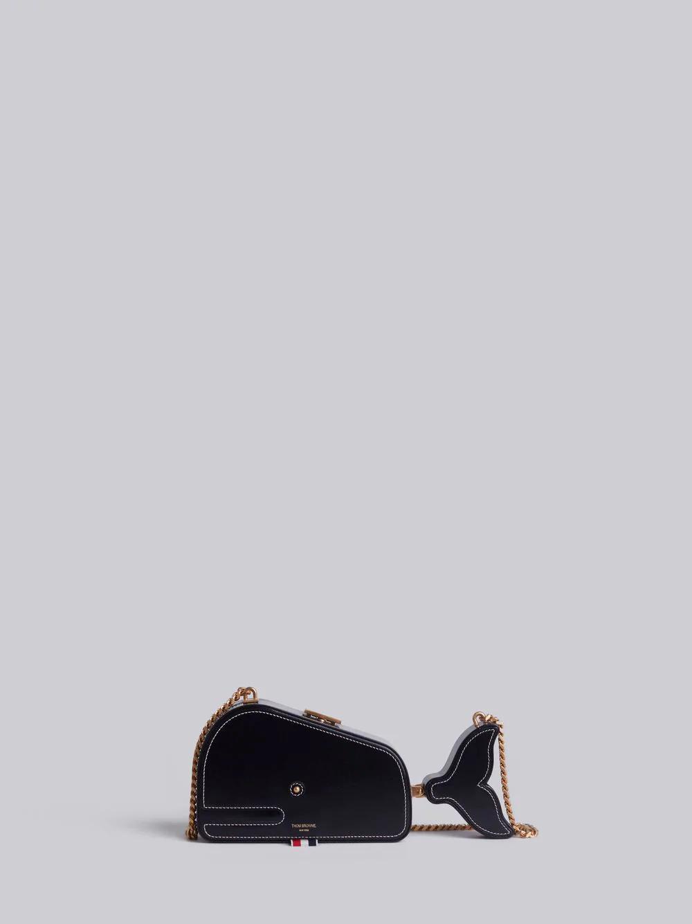 be845380fe5 Thom Browne Chain Strap Whale Bag In Black | ModeSens