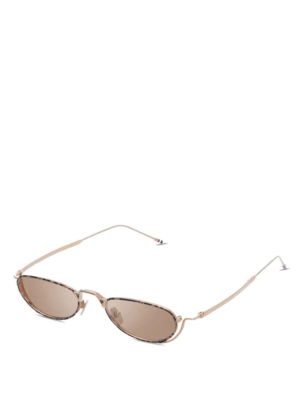 d8bdb1d3c4 Thom Browne Eyewear White Gold   Tortoise Sunglasses