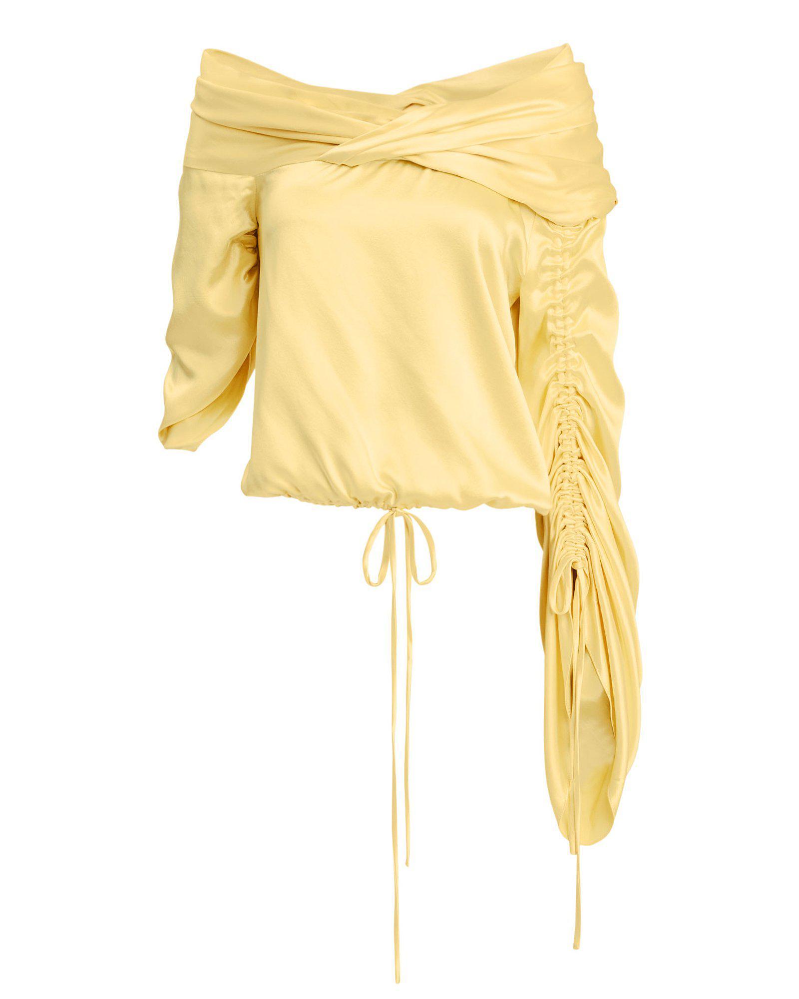 fda19f377f078f Hellessy Sunshine Asymmetrical Silk Top   ModeSens